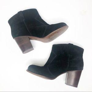 Splendid black suede booties